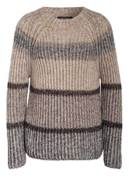 LUISA CERANO Pullover, Farbe: BEIGE/ DUNKELBRAUN/ GOLD (Bild 1)