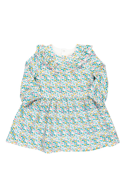 PETIT BATEAU Kleid mit Glitzergarn , Farbe: TÜRKIS/ WEISS/ GELB (Bild 1)