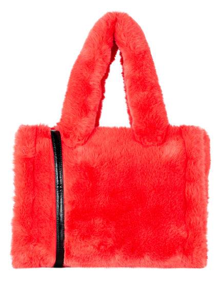 STAND STUDIO Kunstfell-Shopper LIZ , Farbe: HELLROT (Bild 1)