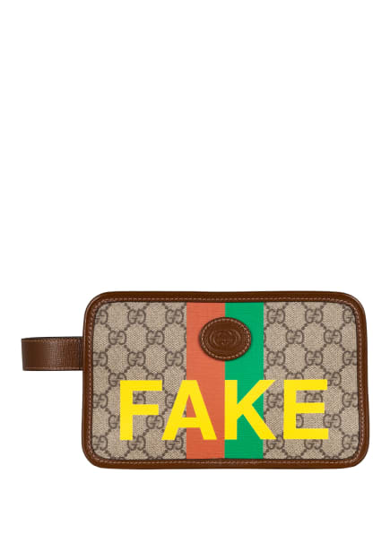 GUCCI Kosmetiktasche GG SUPREME FAKE/NOT, Farbe: 8280 BE.E.N.R.N.SH.YE/B.S. (Bild 1)