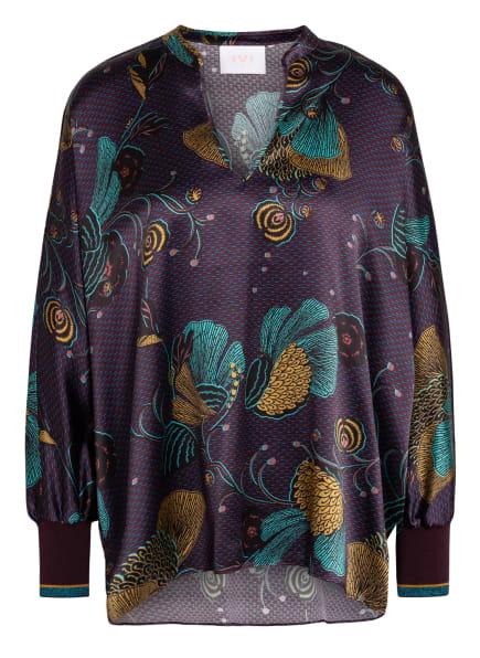IVI collection Oversized-Blusenshirt aus Seide , Farbe: DUNKELLILA/ MINT /DUNKELGELB (Bild 1)