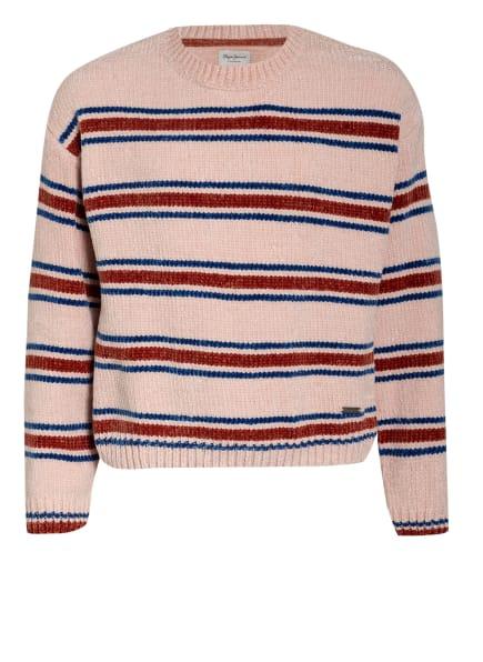 Pepe Jeans Pullover SANDREEN, Farbe: NUDE/ BLAU/ ROT (Bild 1)