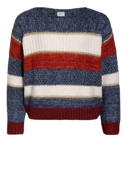 Pepe Jeans Pullover SUE, Farbe: BLAU/ WEISS/ ROT (Bild 1)