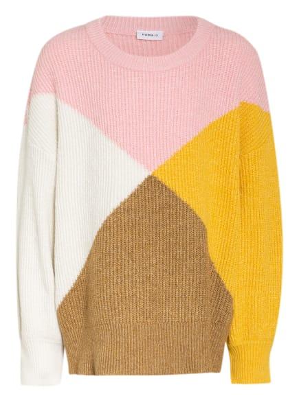 name it Pullover, Farbe: ROSA/ GELB/ BRAUN (Bild 1)