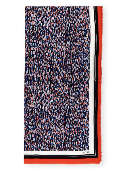 BOSS Tuch LOGONIA , Farbe: DUNKELBLAU/ DUNKELORANGE/ WEISS (Bild 1)