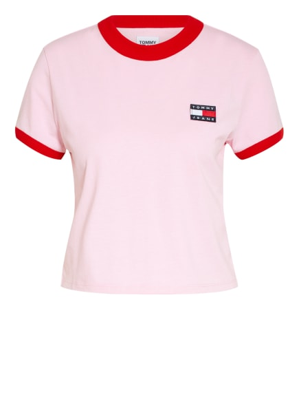 TOMMY JEANS Cropped-Shirt , Farbe: ROSA/ ROT (Bild 1)