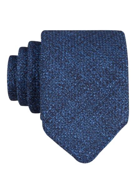 BOSS Krawatte mit Leinen, Farbe: DUNKELBLAU (Bild 1)