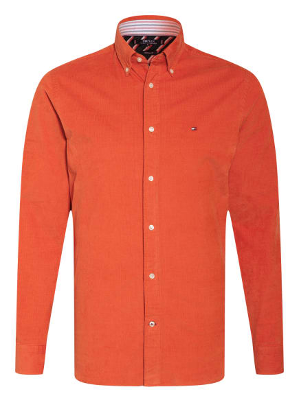 TOMMY HILFIGER Cordhemd Regular Fit, Farbe: ORANGE (Bild 1)