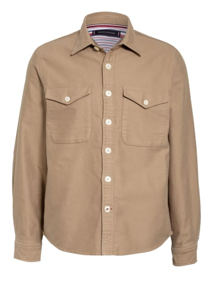 TOMMY HILFIGER Overshirt Relaxed Fit, Farbe: BEIGE (Bild 1)