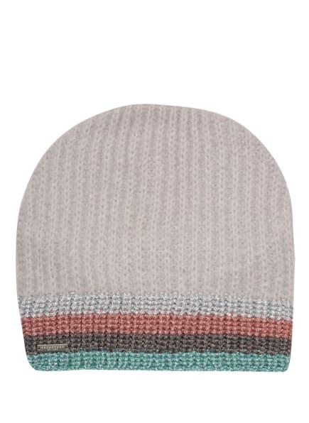 SEEBERGER Mütze mit Glitzergarn, Farbe: HELLGRAU/ SILBER/ MINT (Bild 1)