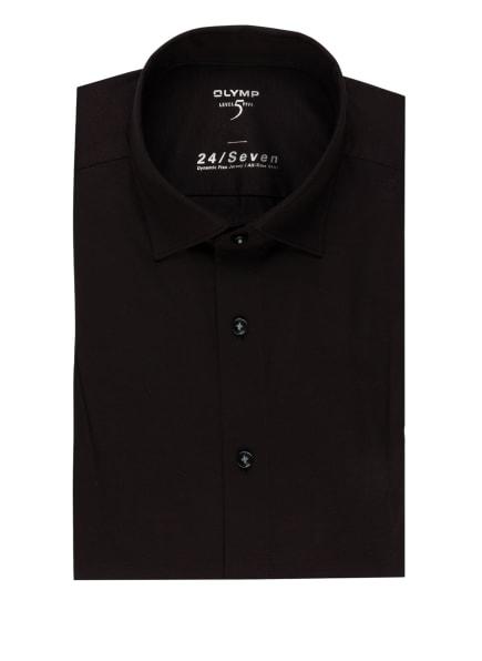 OLYMP Jerseyhemd Level Five 24/7 body fit, Farbe: SCHWARZ (Bild 1)