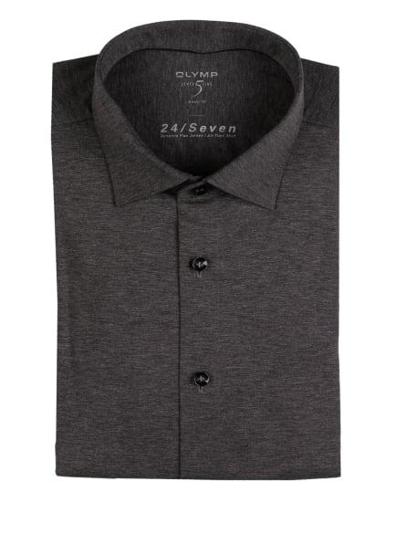 OLYMP Jerseyhemd Level Five 24/7 body fit, Farbe: DUNKELGRAU (Bild 1)