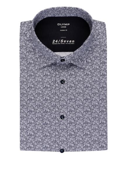 OLYMP Jerseyhemd Luxor modern fit, Farbe: BLAU/ WEISS (Bild 1)