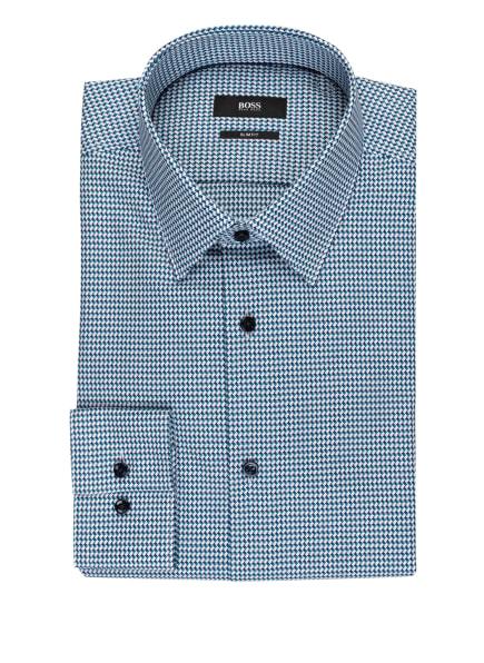 BOSS Hemd JANO Slim Fit, Farbe: WEISS/ PETROL/ DUNKELBLAU (Bild 1)