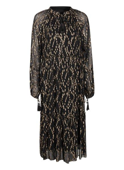 ILSE JACOBSEN Kleid mit Glitzergarn, Farbe: SCHWARZ/ GOLD (Bild 1)