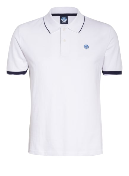 NORTH SAILS Piqué-Poloshirt, Farbe: WEISS (Bild 1)