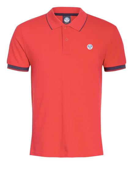 NORTH SAILS Piqué-Poloshirt, Farbe: ROT (Bild 1)