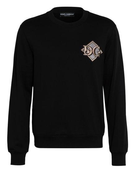 DOLCE&GABBANA Sweatshirt, Farbe: SCHWARZ/ BEIGE (Bild 1)