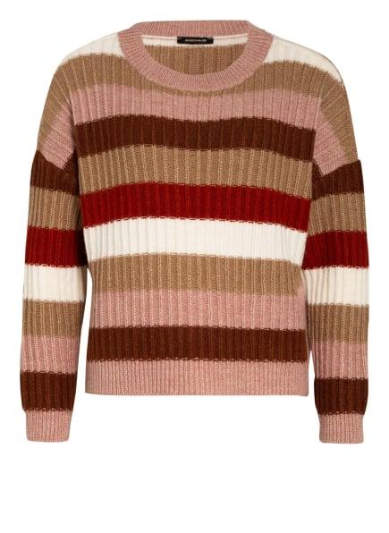 MORE & MORE Pullover, Farbe: ROSA/ BRAUN/ DUNKELROT (Bild 1)