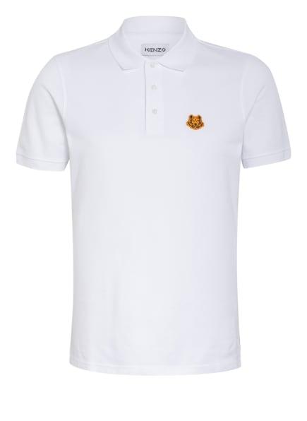 KENZO Piqué-Poloshirt TIGER CREST, Farbe: WEISS (Bild 1)