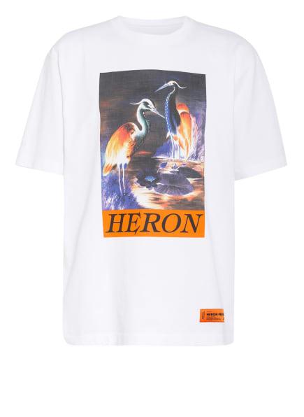HERON PRESTON Oversized-Shirt, Farbe: WEISS/ ORANGE (Bild 1)