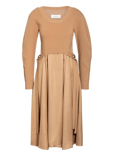SPORTMAX Kleid CONERO im Materialmix, Farbe: CAMEL (Bild 1)