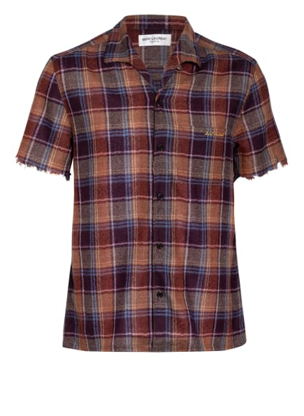 SAINT LAURENT Halbarm-Hemd Regular Fit, Farbe: BRAUN/ BLAU (Bild 1)