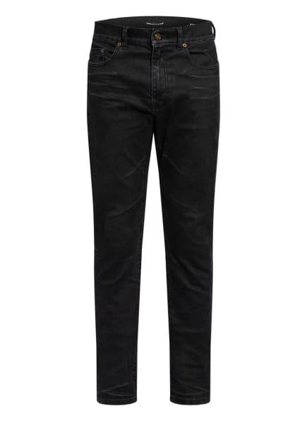 SAINT LAURENT Jeans Skinny Fit, Farbe: 1251 BLACK LIGHT COATED (Bild 1)