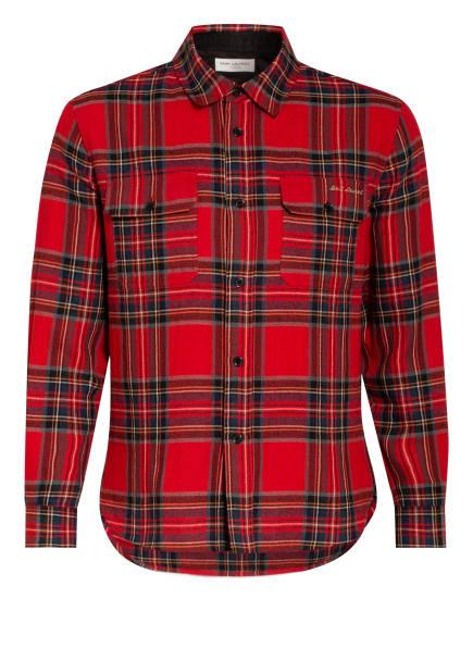 SAINT LAURENT Flanell-Overshirt Regular Fit, Farbe: ROT/ DUNKELBLAU/ GRAU (Bild 1)