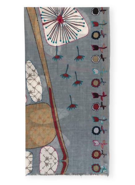 STORI ATIPIC Schal AUBE, Farbe: BLAUGAU/ CAMEL/ WEISS (Bild 1)