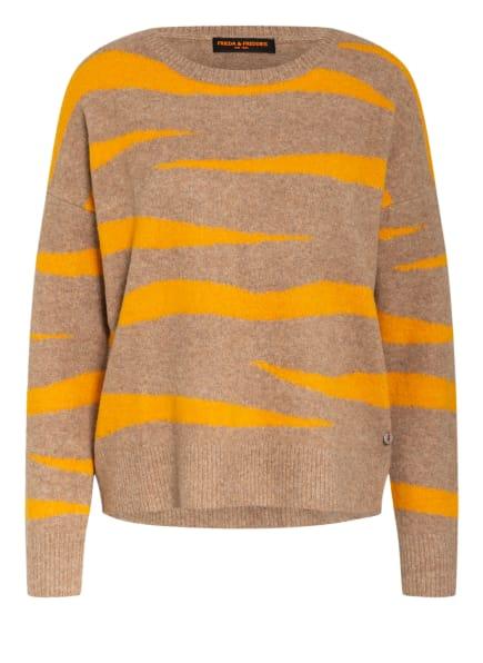 FRIEDA&FREDDIES Pullover, Farbe: GELB/ HELLBRAUN (Bild 1)