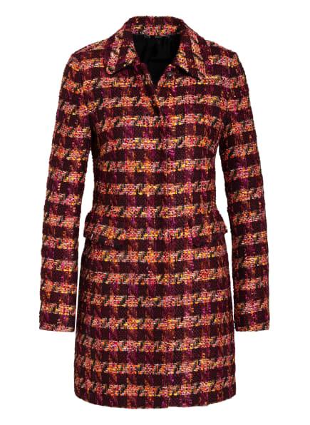 NVSCO Tweed-Mantel VIVIEN, Farbe: DUNKELROT/ FUCHSIA/ SCHWARZ (Bild 1)