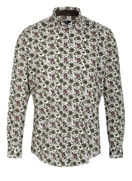 STROKESMAN'S Hemd Regular Fit, Farbe: WEISS/ OLIV/ SCHWARZ (Bild 1)