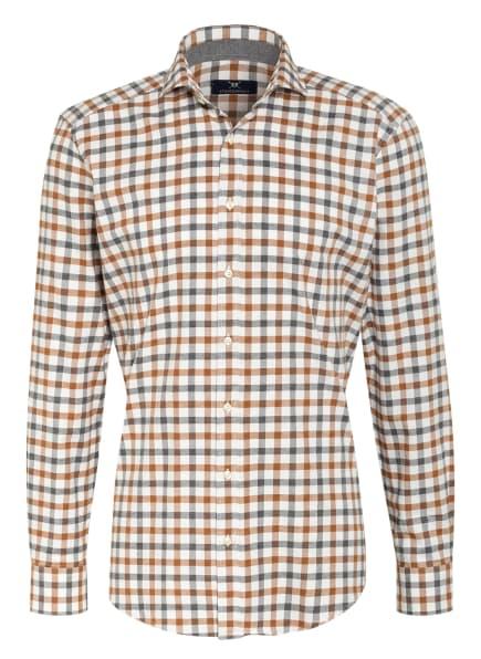 STROKESMAN'S Hemd Modern Fit, Farbe: WEISS/ GRAU/ BRAUN (Bild 1)