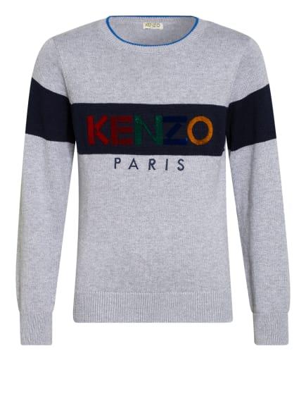 KENZO Pullover , Farbe: GRAU/ DUNKELBLAU (Bild 1)