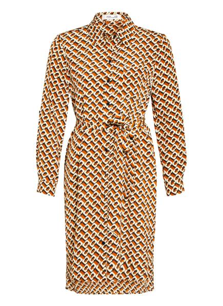 DIANE VON FURSTENBERG Hemdblusenkleid PRITA aus Seide , Farbe: COGNAC/ CREME/ DUNKELBRAUN (Bild 1)