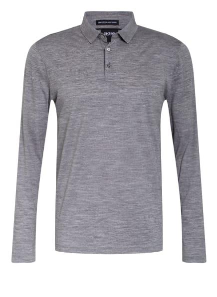 BOSS Strick-Poloshirt PERSON, Farbe: GRAU (Bild 1)