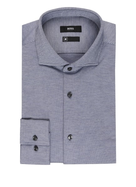 BOSS Jerseyhemd JASON Slim Fit , Farbe: WEISS/ DUNKELBLAU (Bild 1)