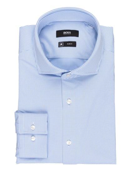 BOSS Jerseyhemd JASON Slim Fit, Farbe: WEISS/ HELLBLAU (Bild 1)