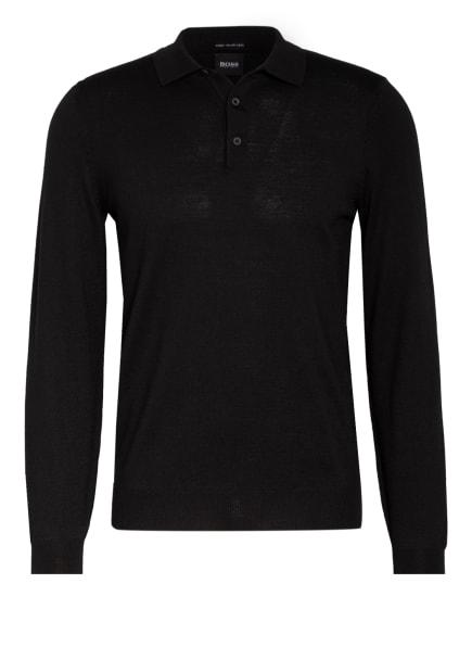 BOSS Pullover BONO mit Polokragen, Farbe: SCHWARZ (Bild 1)