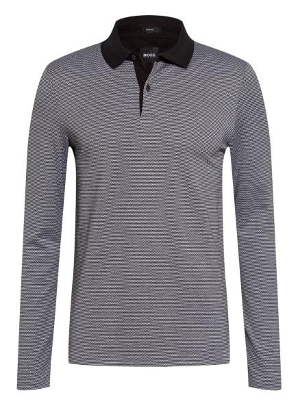 BOSS Strick-Poloshirt PLEINS Slim Fit, Farbe: SCHWARZ/ WEISS (Bild 1)