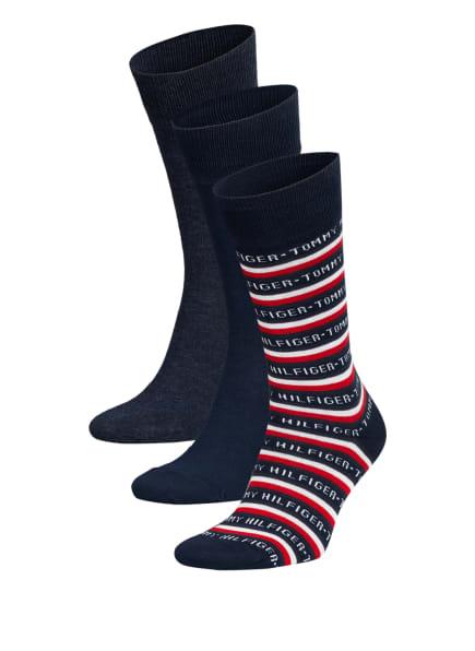 TOMMY HILFIGER 3er-Pack Socken in Geschenkbox, Farbe: 002 dark navy (Bild 1)