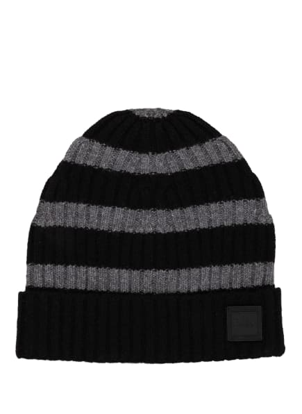 BOSS Mütze KRAFENO , Farbe: SCHWARZ/ GRAU (Bild 1)