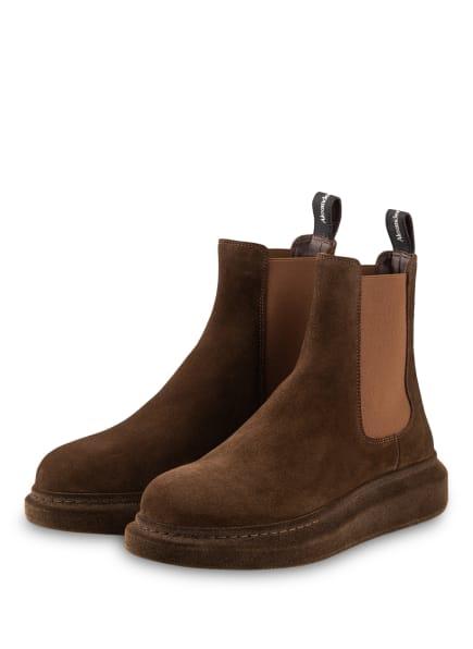 ALEXANDER McQUEEN Chelsea-Boots, Farbe: BRAUN (Bild 1)