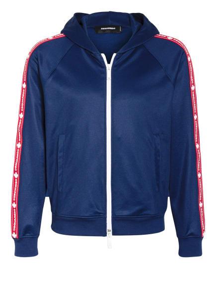 DSQUARED2 Trainingsjacke mit Galonstreifen, Farbe: DUNKELBLAU/ DUNKELROT/ ROSA (Bild 1)