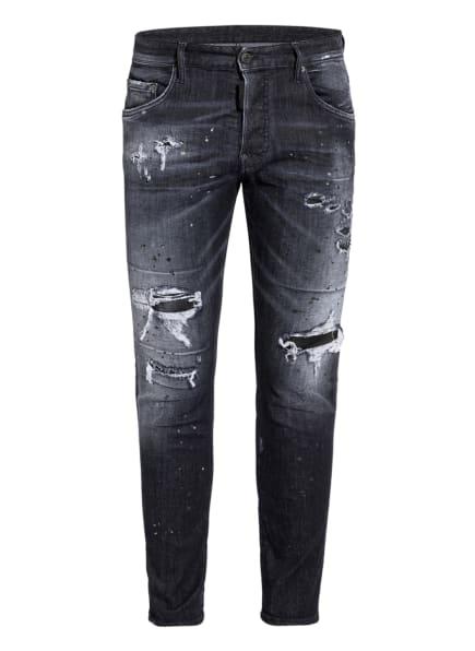 DSQUARED2 Destroyed Jeans SKATER JEAN Extra Slim Fit, Farbe: 900 BLACK (Bild 1)