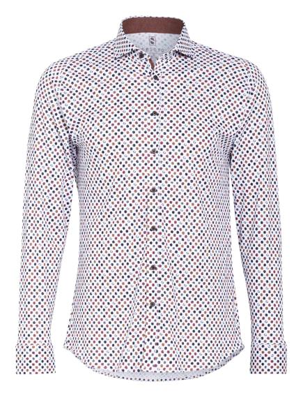 DESOTO Jerseyhemd Slim Fit , Farbe: WEISS/ DUNKELGRÜN/ DUNKELROT (Bild 1)