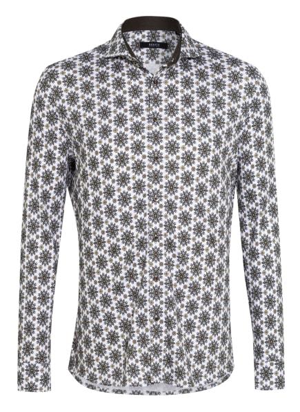 DESOTO Jerseyhemd Slim Fit, Farbe: WEISS/ SCHWARZ/ HELLGRÜN (Bild 1)