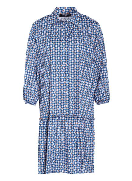 ANNA's Kleid mit 3/4-Arm , Farbe: BLAU/ BEIGE/ BRAUN (Bild 1)