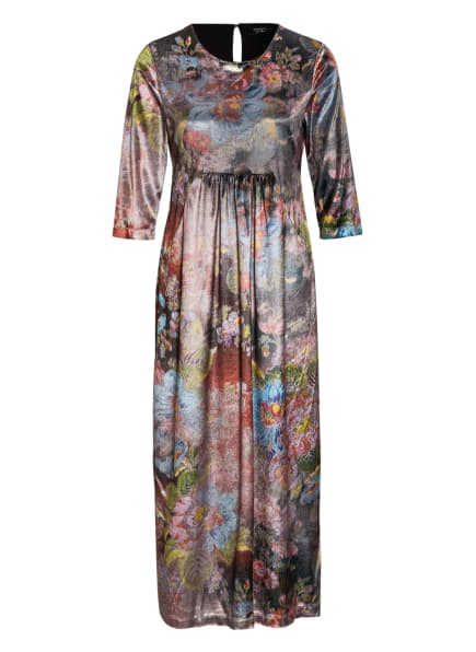 ANNA's Kleid mit 3/4-Arm, Farbe: GRÜN/ HELLGRAU/ ROT (Bild 1)